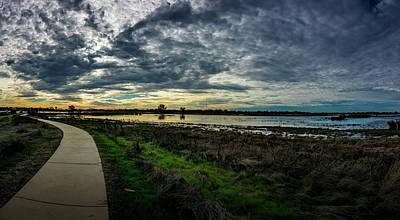 Wetlands Sunset Panorama Poster
