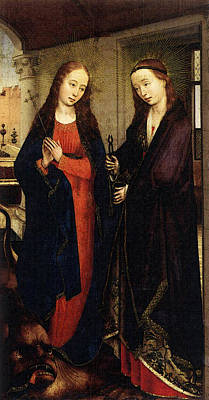 Weyden Sts Margaret And Apollonia Poster