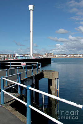 Weymouth Pavillion Pier And Tower Poster by Baggieoldboy