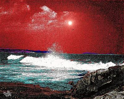 Whaleback At Peaks Island Maine Poster