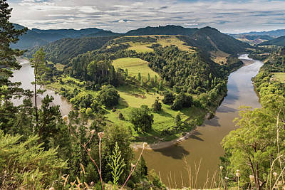 Poster featuring the photograph Whanganui River Bend by Gary Eason
