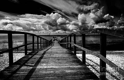 Wharf At Southend On Sea Poster by Avalon Fine Art Photography