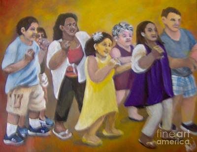 Poster featuring the painting What America Should Look Like by Saundra Johnson