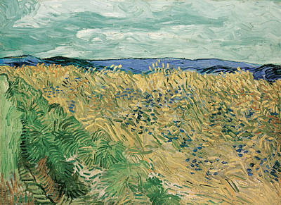 Wheatfield With Cornflowers Poster by Vincent van Gogh