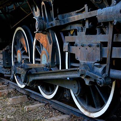 Wheels On Rails Poster by Joe Bonita