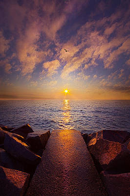 When The Path Ends Ther Real Journey Begins Poster by Phil Koch
