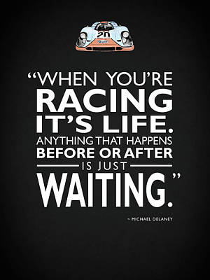 When Youre Racing Its Life Poster