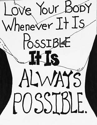Whenevery It Is Possible Poster by Sara Young