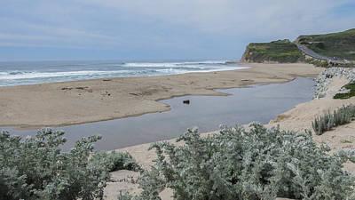 Where Scott Creek Meets The Ocean Poster