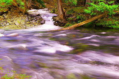 Poster featuring the photograph Where The Stream Meets The River by Jeff Swan