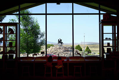 Where Today Meets Yesterday Wyoming Buffalo Bill Center Of The West Poster by Thomas Woolworth