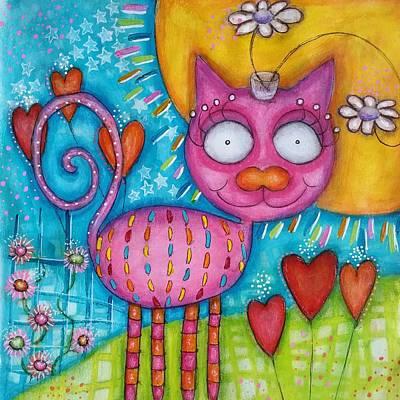 Whimsicat  Poster by Barbara Orenya