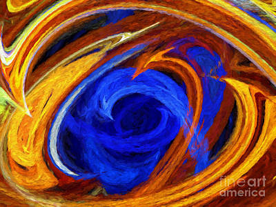 Poster featuring the digital art Whirlpool Abstract by Andee Design