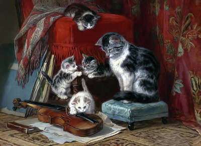 Whiskers And The Violin Poster by Georgiana Romanovna