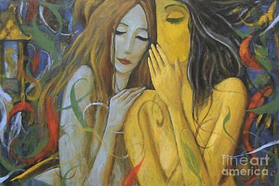 Whispering Mermaids Poster by Glenn Quist
