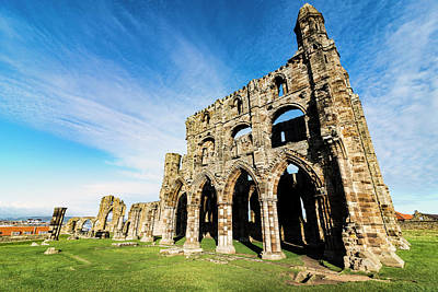 Poster featuring the photograph Whitby Abbey by Anthony Baatz