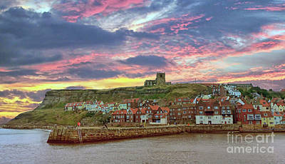 Whitby Abbey Uk Poster
