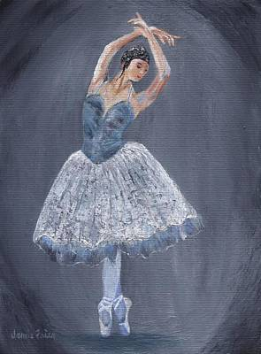 Poster featuring the painting White Ballerina by Jamie Frier