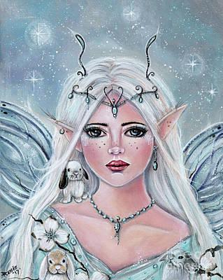 White Blossom Elf Poster
