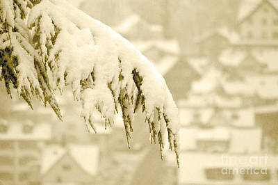 White Christmas - Winter In Switzerland Poster by Susanne Van Hulst
