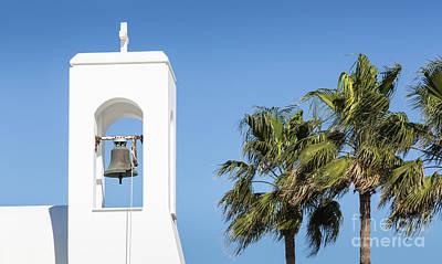 White Church And Palms, Agia Napa, Cyprus Poster by Mariusz Prusaczyk