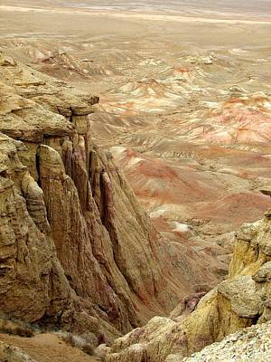 White Cliffs Of Gobi Desert Poster