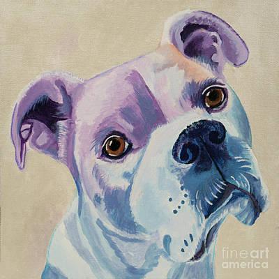 White Dog Portrait Poster
