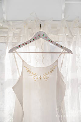 White Dress On Clothes Hanger Poster by Elisabeth Coelfen