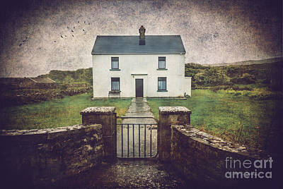 White House Of Aran Island I Poster by Craig J Satterlee