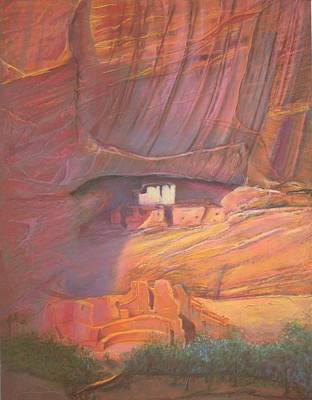 White House Rock  Home Of He Anasazi He Anasazi Poster