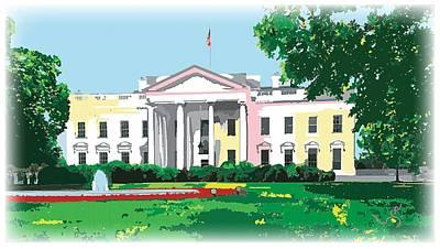 White House, Washington Dc Poster by Inge Lewis