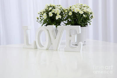 white LOVE text  Poster