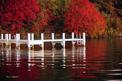 White Pier - Lake Geneva Wisconsin Poster by Bruce Thompson