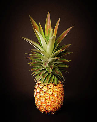 White Pineapple King Poster
