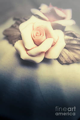 White Porcelain Rose Poster