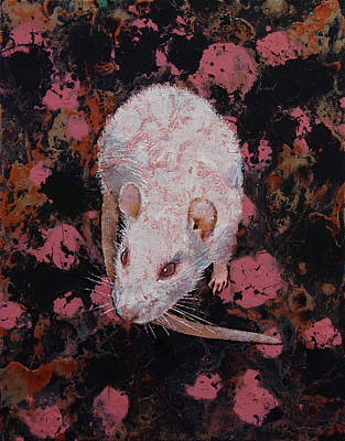 White Rat Poster by Michael Creese