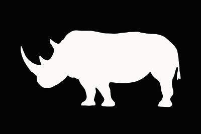 White Rhino Left Poster