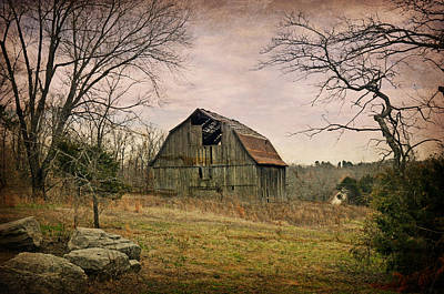 White River Trace Barn 1 Poster by Marty Koch