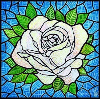 White Rose  Poster by Jim Harris