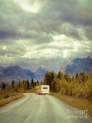 White Rv In Montana Poster by Jill Battaglia