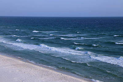 White Sand Blue Waters Poster by Theresa Campbell