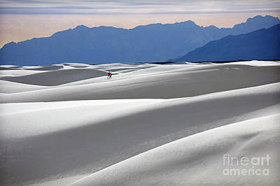 White Sands Hikers Poster by Martin Konopacki