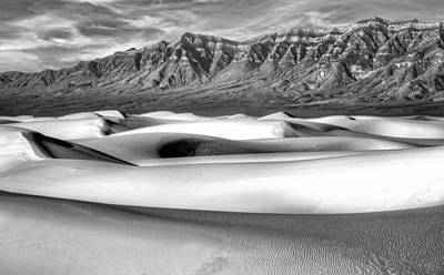 White Sands Morning - 2 - New Mexico - Black And White Poster by Nikolyn McDonald