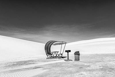 Poster featuring the photograph White Sands National Monument #8 by Lou Novick