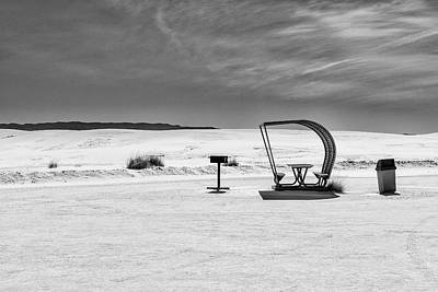 Poster featuring the photograph White Sands National Monument #9 by Lou Novick
