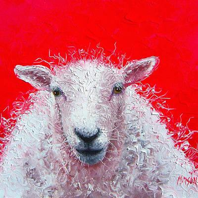 White Sheep Poster by Jan Matson