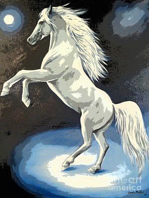 White Steed Poster by Al Bourassa