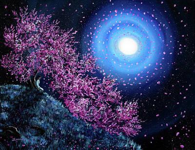 White Tara In Cascading Sakura Poster by Laura Iverson