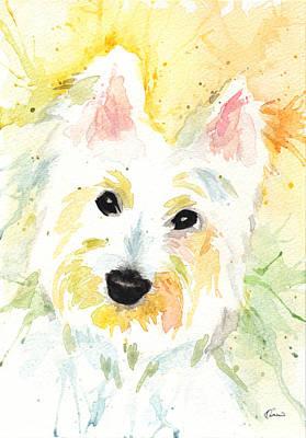 White Terrier Poster