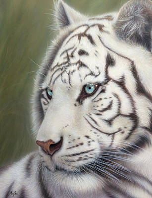White Tiger Poster by Becky Chan